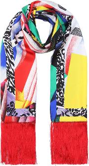 Exclusive To Mytheresa.com Fringed Silk Twill Scarf