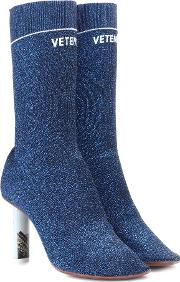Stretch Jersey Ankle Boots