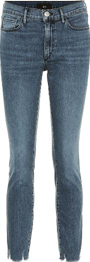 W2 Cropped Mid Rise Skinny Jeans