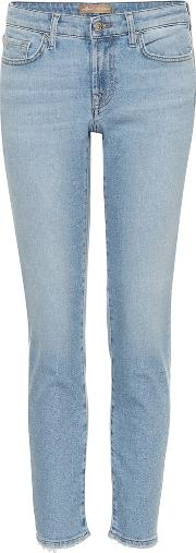 Pyper Cropped Mid Rise Skinny Jeans