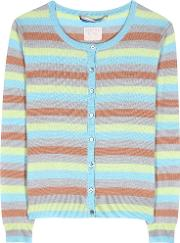 Clyde Striped Cashmere Cardigan