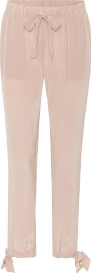 Sue Silk Crepe De Chine Trousers