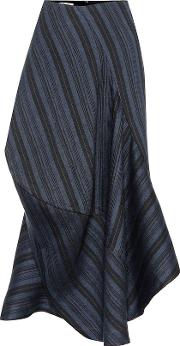 Suse Striped Wool Blend Skirt