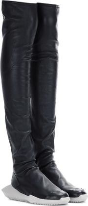 Stretch Tech Runner Leather Boots