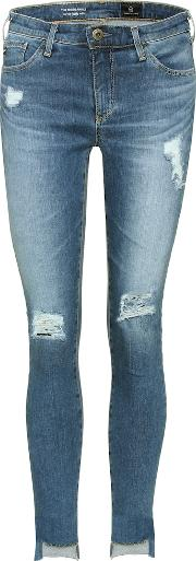 Middi Ankle Distressed Jeans