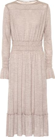Wool, Silk And Cashmere Blend Dress
