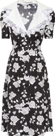 Floral Printed Faille Dress