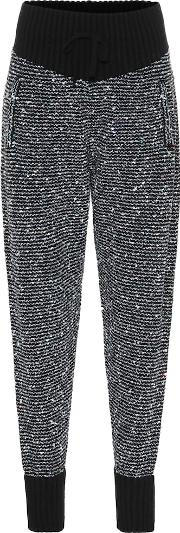 Sequined Cashmere Blend Trackpants