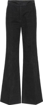 Flared High Waisted Corduroy Trousers