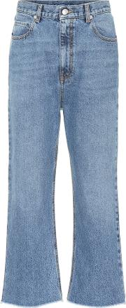 Cropped Mid Rise Jeans