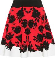 Floral Knitted Skirt