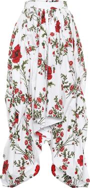 Floral Printed Cotton Skirt