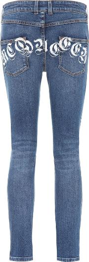 Printed Mid Rise Skinny Jeans