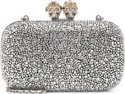 Queen And King Embellished Clutch