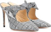 Evelyn Checked Mules