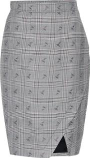 Wilcox Plaid Wool Blend Skirt