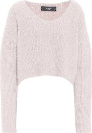 Cropped Wool Blend Sweater