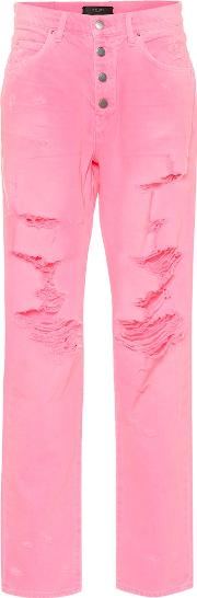 Slouch Destroyed High Rise Jeans