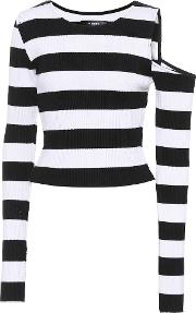 Striped Cotton And Cashmere Top