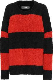 Striped Wool Blend Sweater