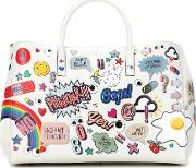 Ebury Maxi All Over Stickers Leather Shopper