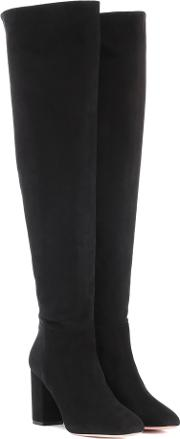 London 85 Suede Over The Knee Boots