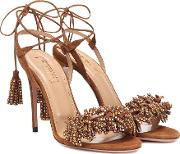 Wild Crystal 105 Leather Sandals