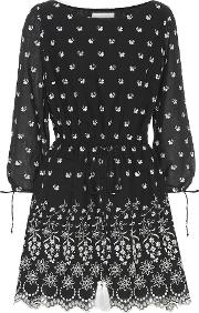 Moonbeams Embroidered Cotton Dress