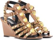 Arena Leather Wedge Sandals