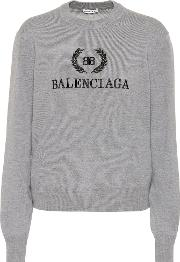 Bb Embroidered Wool Sweater