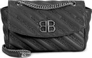 Chain Round M Leather Shoulder Bag
