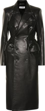 Hourglass Leather Coat
