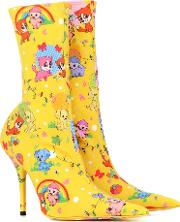 Knife Cartoon Ankle Boots