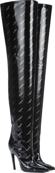 Knife Over The Knee Leather Boots