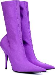 Knife Stretch Jersey Ankle Boots