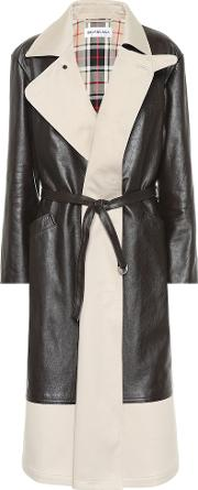 Leather And Canvas Coat
