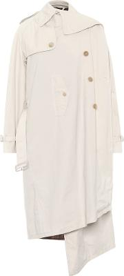 Pulled Cotton Trench Coat