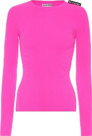 Technical Ribbed Knit Top