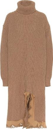 Wool Turtleneck Sweater Dress