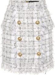 Exclusive To Mytheresa Metallic Checked Tweed Miniskirt