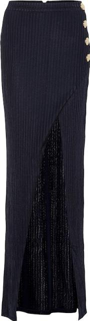 Ribbed Knit Maxi Skirt
