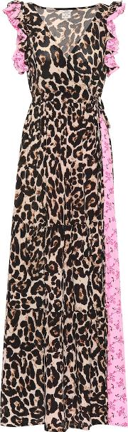 Exclusive To Mytheresa Aiza Leopard And Floral Maxi Dress