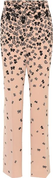 Butterfly Printed Wide Leg Trousers