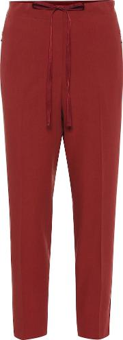 Cropped Mid Rise Straight Pants