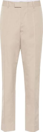 High Rise Straight Cotton Pants