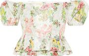 Exclusive To Mytheresa Oarsman Floral Silk Blend Top
