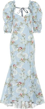 Floral Moire Gown