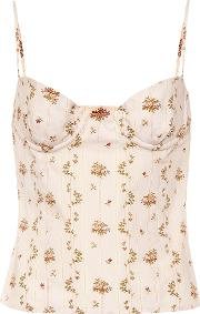 Oboe Floral Printed Cotton Top