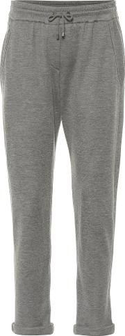 Cotton And Silk Blend Trackpants