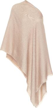 Embellished Silk, Mohair And Cashmere Blend Poncho